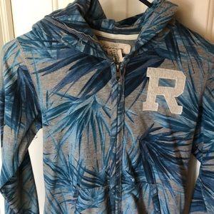 Blue boys tropical hoodie